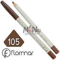 FlorMar - Карандаш для глаз водостойкий Тон №105 milk chocolate матовый, фото 2