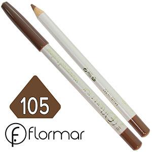 FlorMar - Карандаш для глаз водостойкий Тон №105 milk chocolate матовый