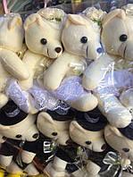 """Мягкая игрушка мишки мишки """"Жених и невеста""""."""