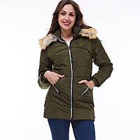 Куртка зимняя оптом - зеленый D5804