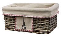 """Плетеная корзина из лозы """"Paris"""" 26X18 h.12 см"""