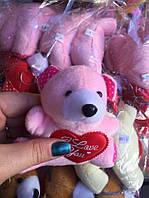 Мягкая игрушка оптом мишка с сердцем, фото 1