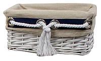 """Плетеная корзина для хранения вещей  """"Marine"""" 26X18 h.12см из лозы"""