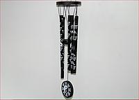 Музыка ветра Инь-Ян  (5 трубочек) чёрный