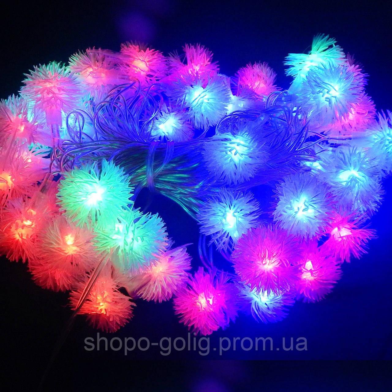 Гирлянда Электрическая Ёжик LED 40 мульти (длина 5м)