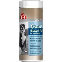 Витамины для шерсти и кожи для собак крупных пород 8in1 Brewers Yeast for large breeds  80 таб