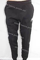 Мужские теплые спортивные штаны NIKE на байке черные