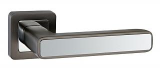Ручка дверная на раздельном основании Punto - Mars QR GR/CP 23 (графит - хром)