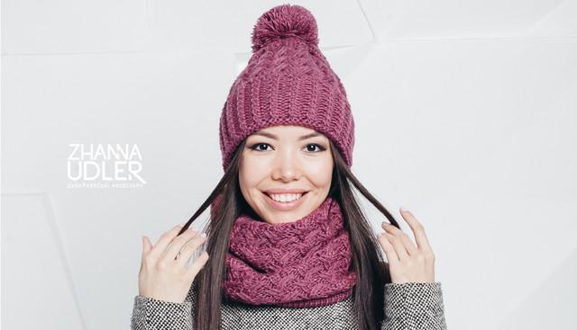 Вязаные шарфы, шапки и хомуты