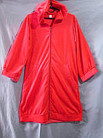 Женский велюровый халат с капюшоном однотонный с широкими манжетами на рукавах и по подолу, фото 1