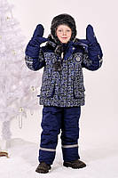 Рукавицы краги зимние для мальчика непромокаемые на меху размер 122