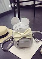 """Мини рюкзак серый """"Микки"""""""