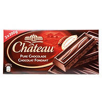 Черный шоколад Chateau Chocolat Fondant Zartbitter 400 г , фото 1