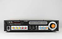 Усилитель звука AMP 123, карта памяти SD до 8 Гб, караоке на 2 микрофона, пульт ДУ, 355х201х70мм