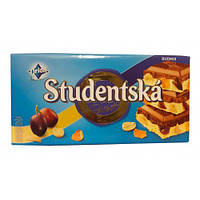 Шоколад молочно-белый ORION Studentska Pecet DuoMix с арахисом и изюмом