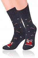 Мужские носки новогодние на подарок теплые steven