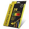 Карандаши цветные 36 цветов MARCO 4120-36CB Superb Writer Aquarelle, акварельные с кисточкой