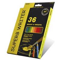 Карандаши цветные 36 цветов MARCO 4120-36CB Superb Writer Aquarelle, акварельные с кисточкой, фото 1