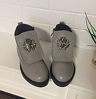 Ботинки зима RCav@li cерая кожа