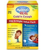 Детская гомеопатия от простуды, орви Hyland's 4 Kids Cold 'n Cough Day & Night Value Pack