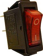 KCD6 Переключатель 1 клавишный (красный с подсветкой)