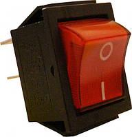 KCD7 Переключатель 1 клавишный (красный с подсветкой)