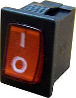 YL211-02 Переключатель 1 клавишный (красный с подсветкой)