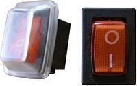 YL211-03 Переключатель 1 клавишный с защитой (красный)