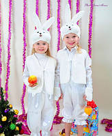 Карнавальный костюм Зайка Зайчик Заяц белый мальчик, фото 1