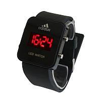 Светодиодные Часы Адидас Adidas LED Watch Черные, фото 1