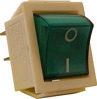 KED Переключатель 1 клавишный (зеленый с подсветкой)