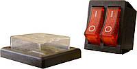 YL208-01 Переключатель 1 клавишный с защитой (красный)