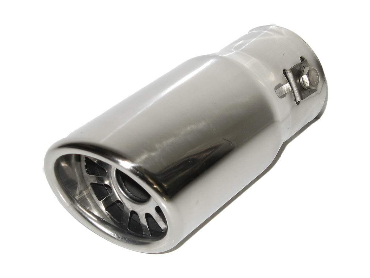 Насадка наконечник глушителя нержавейка 0087 (35-45 мм) тюнинг на выхлопную трубу глушитель универсальная