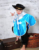 Детский карнавальный костюм Мушкетёр голубой