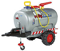 Прицеп  цистерна  с распылителем и насосом Rolly Toys silver