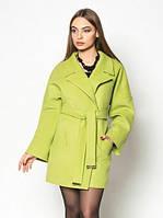 Женское демисезонное пальто Шанель свободного кроя короткое