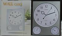 Часы настенные с термометром и гигрометром. Домашняя метеостанция.
