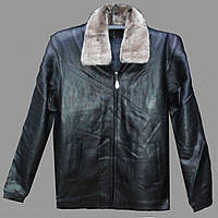 Зимняя удлинённая куртка из натуральной кожи