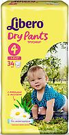 Подгузник детский Либеро Драйпантс 4 (7-11кг) (34)