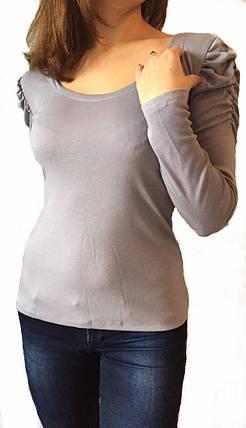 Жіноча кофта №506 сіра, фото 2