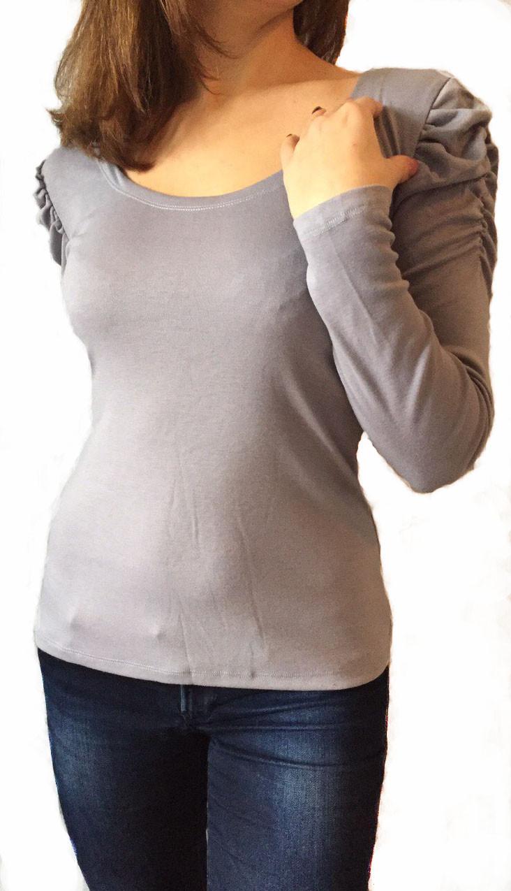 Жіноча кофта №506 сіра