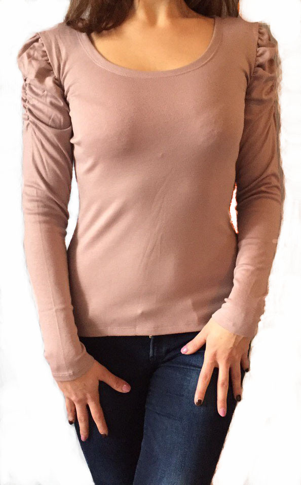 Женская кофта №506 розово - бежевая