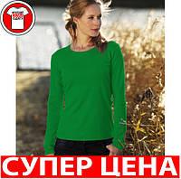 ЖЕНСКАЯ футболка с длинным рукавом Цвет ЯРКО-ЗЕЛЁНЫЙ Размер L WCLS205-47-L