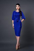 Яркое осеннее платье цвета электрик. Размеры: 44, 46, 48.