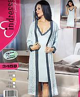 Комплект турецкий хлопковый халат и ночная рубашка