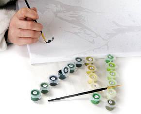 Раскраска по цифрам Котенок и рыбка, фото 2