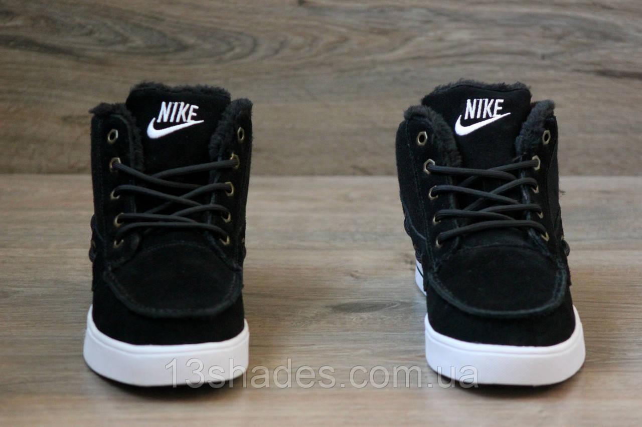 e73a4a7d Кроссовки зимние Nike High Top Fur (Топ качество) чёрный ( Найк ) ...