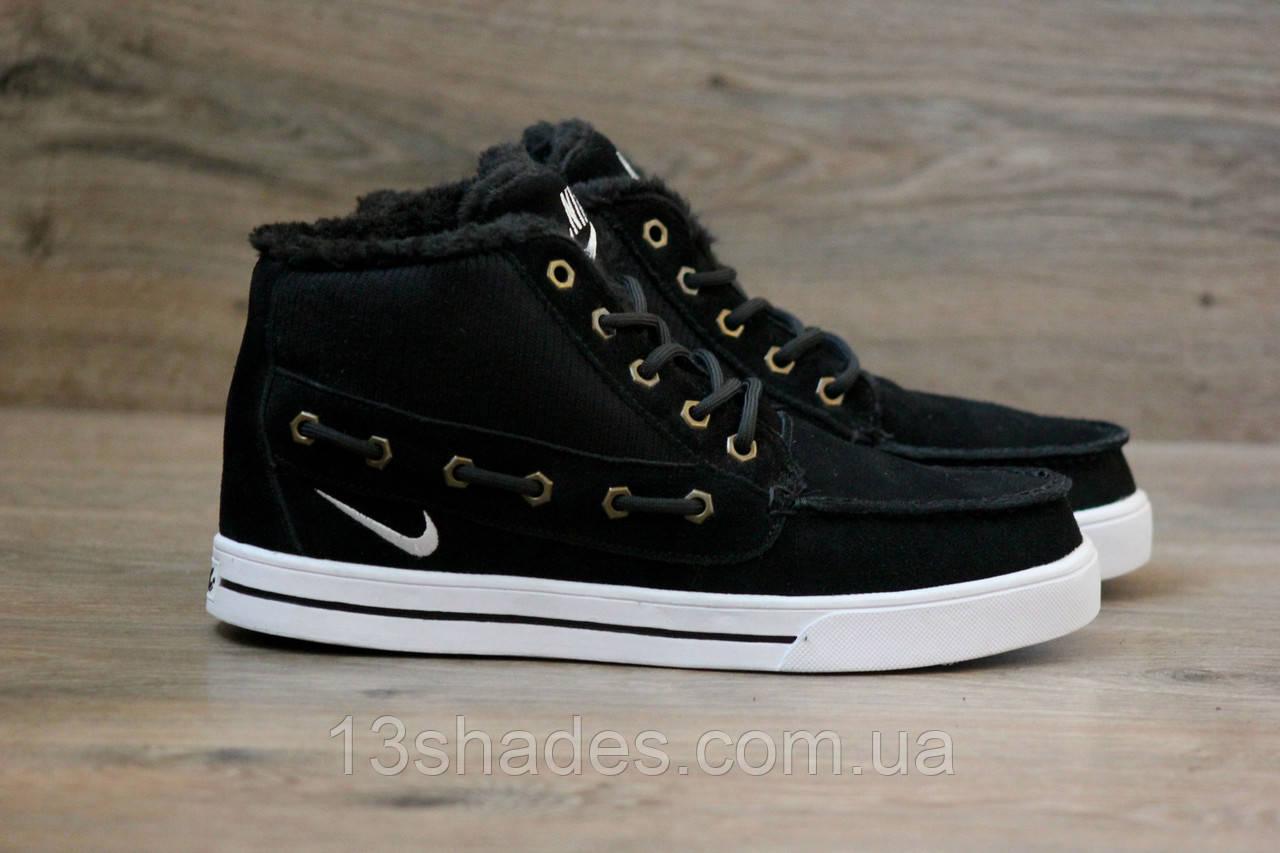 7b55fee0 Кроссовки зимние Nike High Top Fur (Топ качество) чёрный ( Найк ) - Интернет