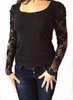 Женская блуза  черная № 508