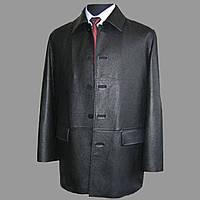 Кожанная удлинённая куртка